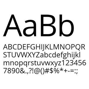 Семейство Web шрифтов Open Sans